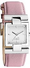Dolce & Gabbana D&G Courmayeur Silver Dial Leather Strap