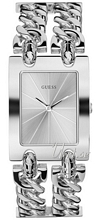 Guess Mod Heavy Metal Hopea/Teräs 35x28 mm