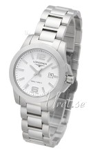 Longines Conquest Ladies White Dial Steel Bracelet
