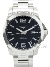 Longines Conquest Black Dial Bracelet