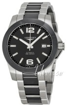 Longines Conquest Ceramic Bezel Black Dial Steel/Ceramic Bracele