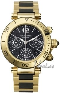 Cartier Pasha Gold Yellow Gold Black Dial