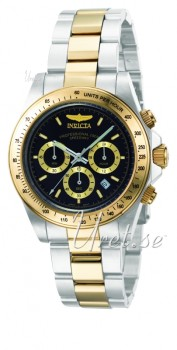 Invicta Chronograph Black Dial
