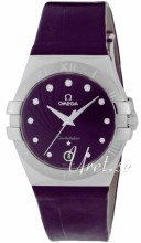 Omega Constellation 35 mm Purple Dial Croco Strap
