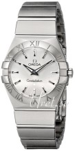 Omega Constellation Brushed 27 mm Steel Silver Dial