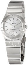 Omega Constellation Polished 27 mm Steel Silver Dial