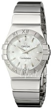 Omega Constellation Polished 27 mm Steel MOP Dial
