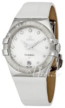 Omega Constellation 35 mm Colors White Dial Croco