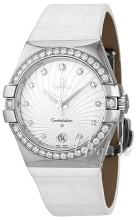 Omega Constellation 35 mm Colors White Dial Diamond Bezel