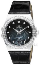 Omega Constellation 35 mm Colors Black Dial Diamond Bezel