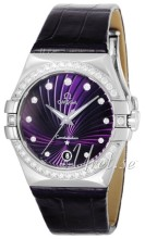 Omega Constellation 35 mm Colors Purple Dial Diamond Bezel