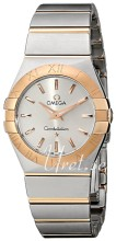 Omega Constellation Brushed 27 mm Rose Gold Steel Silver Dial
