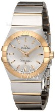 Omega Constellation Brushed 27 mm Yellow Gold Steel Silver Dial