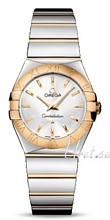 Omega Constellation Polished 27 mm Yellow Gold Steel Silver Dial
