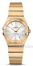 Omega Constellation Brushed 27 mm Yellow Gold Silver Dial