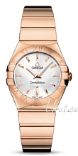 Omega Constellation Polished 27 mm Rose Gold Silver Dial