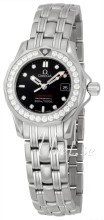 Omega Seamaster Diver Ladies Diamond Steel Black Dial