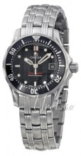 Omega Seamaster Diver Ladies Steel Black Dial