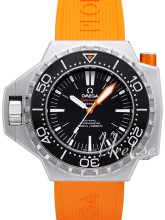 Omega Seamaster Ploprof Orange Dial Black Rubber Strap