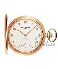 Patek Philippe Hunter Pocket Watch Silver Dial Rose Gold