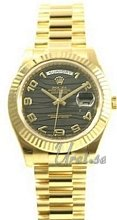 Rolex Day-Date II Black Dial Diamond Yellow Gold