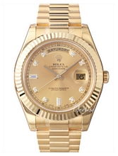Rolex Day-Date II Yellow Gold Champagne Dial