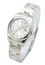 Rolex Lady Datejust Silver Dial Oyster Bracelet